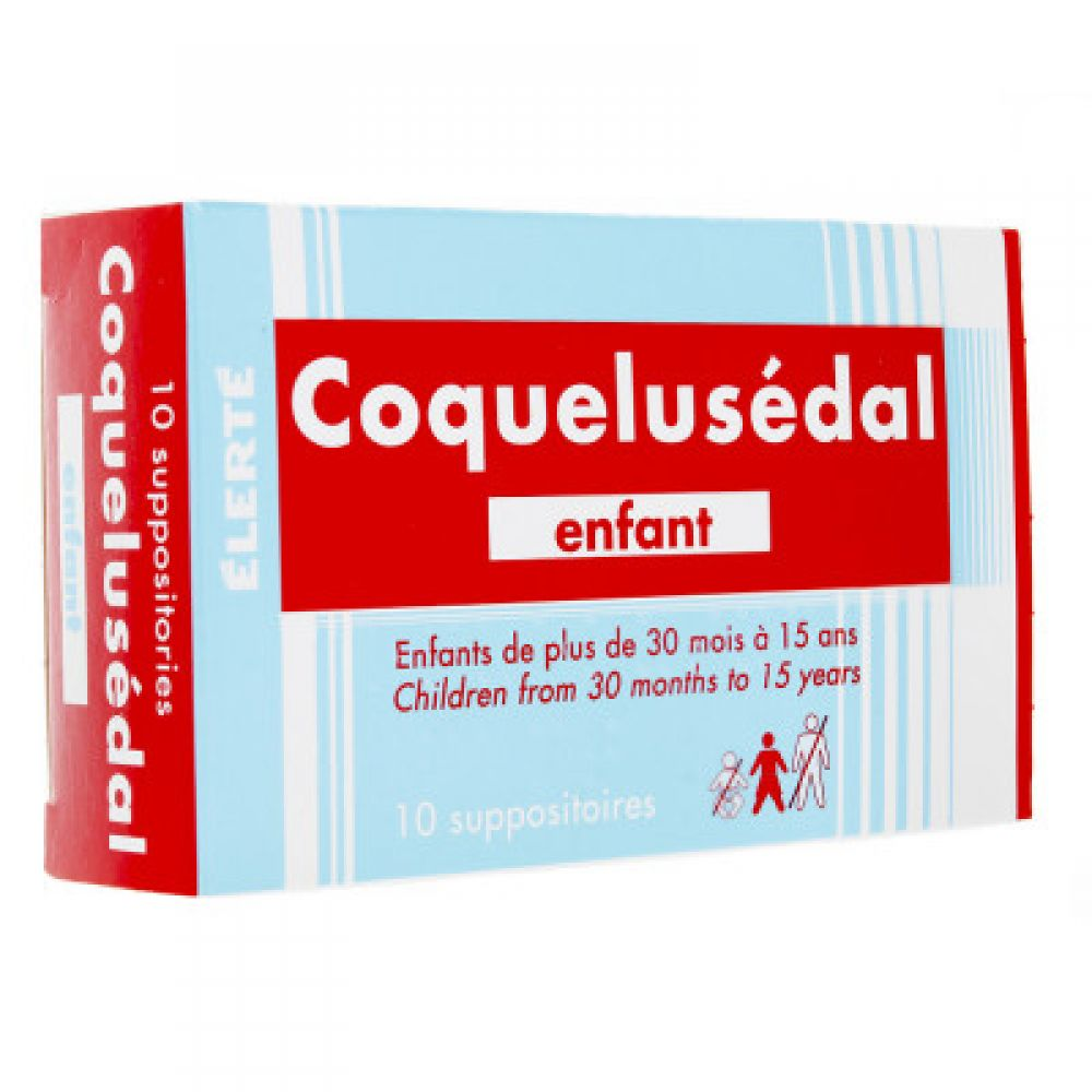 Coquelusédal enfant - 10 suppositoires