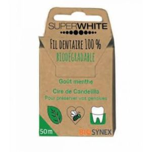 Superwhite fil dentaire biodégradable 50m