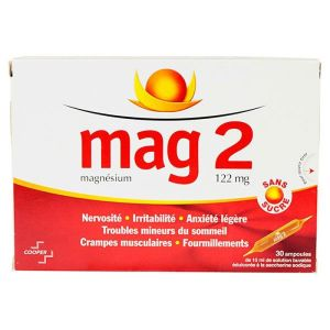 Mag 2 Magnésium 122mg 30 ampoules