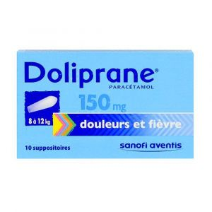 Doliprane 150mg - 10 suppositoires