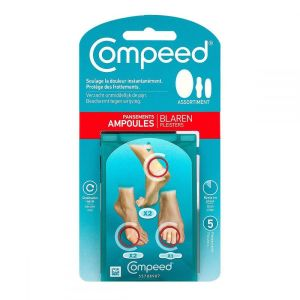 Assortiment 5 pansements ampoules Compeed