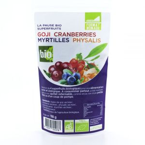 Goji Cranberries Myrtilles Physalis Bio  - 100g