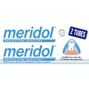 Dentifrice Meridol protection gencives - 2x75ml