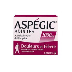 Aspegic 1000mg - 20 sachets
