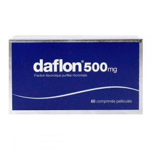 Daflon 500mg 60 comprimés veinotonique