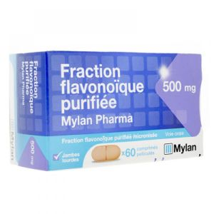 Fraction Flavonoique  500mg - 60 comprimés