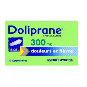 Doliprane 300mg - 10 suppositoires